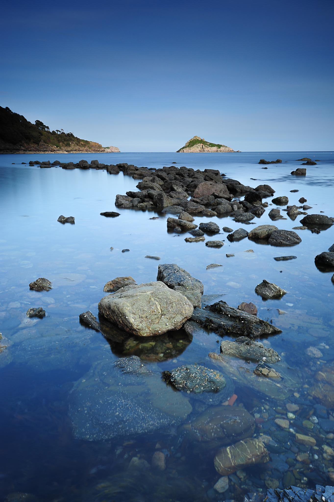 long exposure meadfoot beach